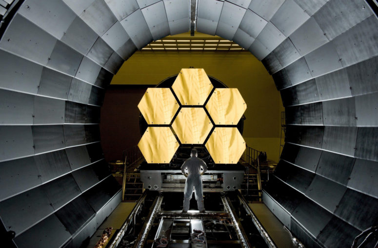 space-telescope-mirror-segments-james-webb-cosmos